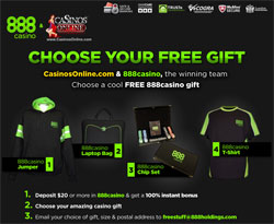 888Casino Promotion - Free Gifts!