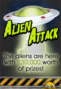 Win €30,000 with Alien Attack at Royal Vegas Casino