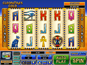 Play Cleopatra's Gold mobile slot now!