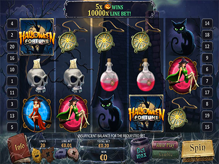 casino online con slot halloween