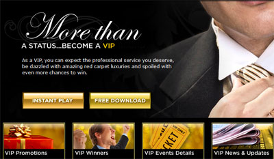 A screenshot of 888 Casino's VIP Club for players.