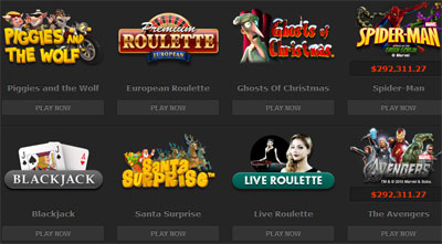 Selection of Online Casino Games