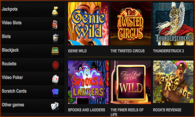 Selection of Casino Games