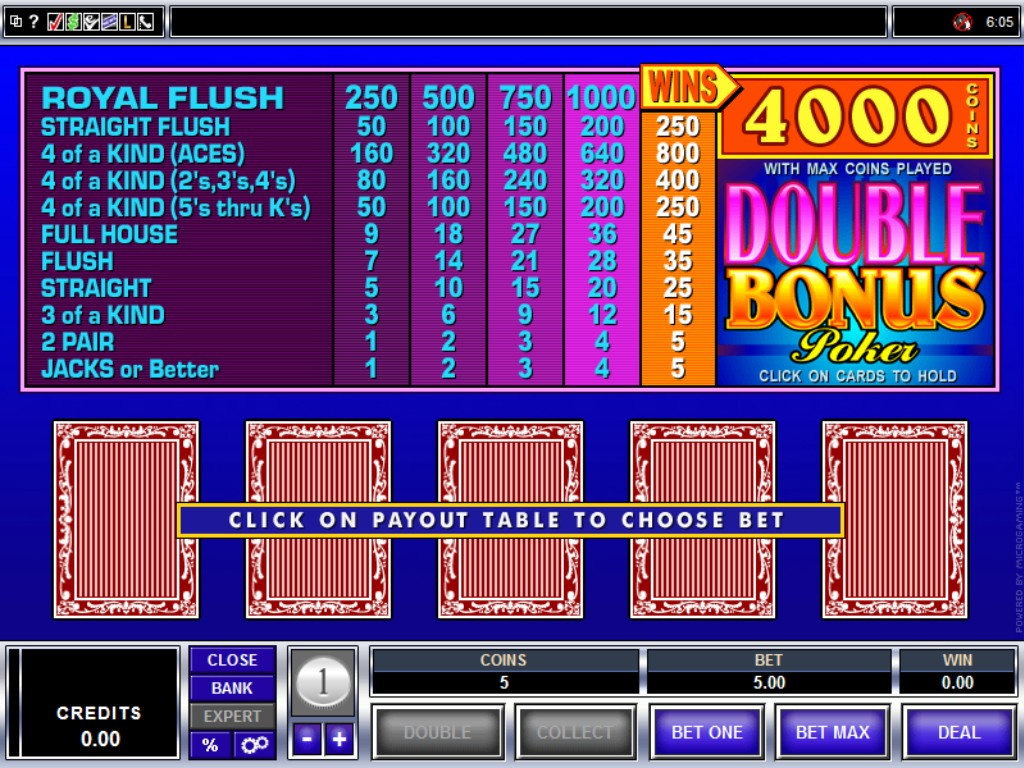 5 Ways to Play Double Double Bonus in Video Poker