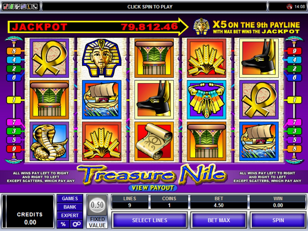 Egyptian Treasure Slot - Play this Video Slot Online