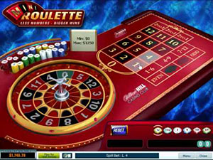 Mini Roulette is based on European Roulette but with more favorable odds.