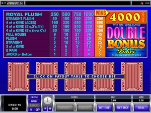 Video Poker Games Gamble Option