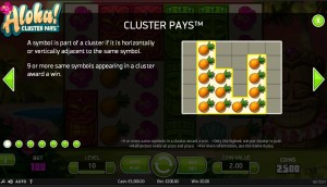 Cluster Pays Slot Structure