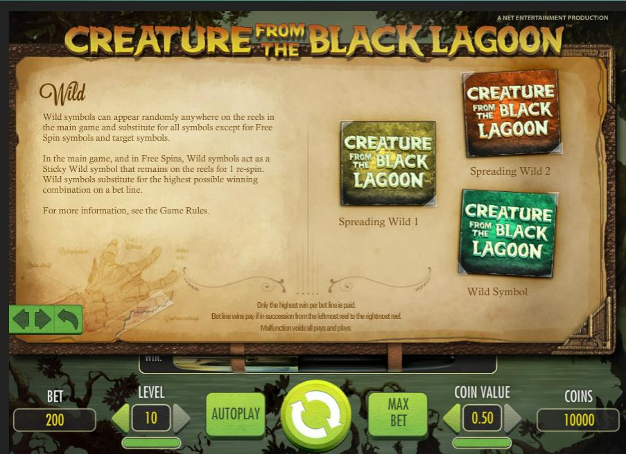 Creature from the Black Lagoon Netent Online Slot - Rizk.com