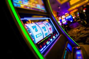 Many slot machines are strategically placed around the casino floor.