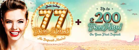 777 Casino - 77 Free Spins No Deposit!