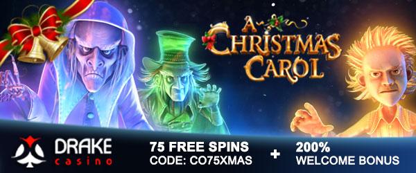 75 Free Spins - Drake Casino