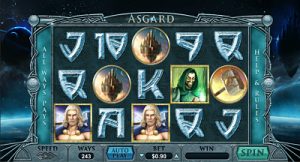 Asgard slot game by Realtime Gaming