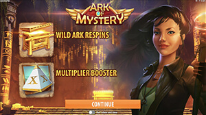 Ark of Mystery promises action-packed gameplay with a multiplier going up to 22x.
