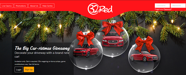 32Red xmass car promo