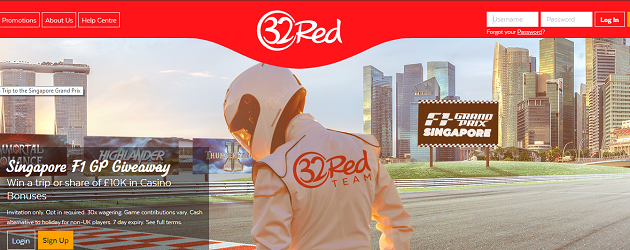 Win a Place at F1 Singapore Grand Prix with 32Red
