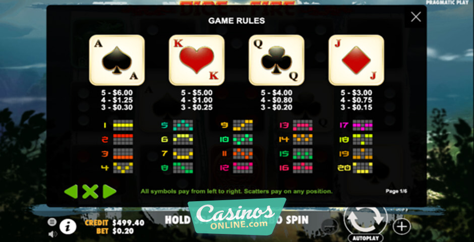 Dice and fire slot machine online pragmatic play online