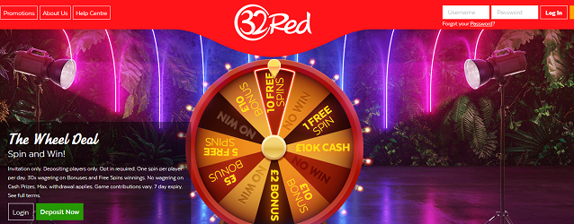 Win up to £10,000 at 32Red Casino