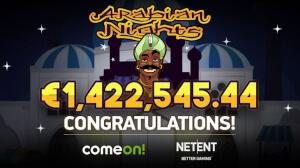 NetEnt's popular progressive slot pays out a staggering jackpot.