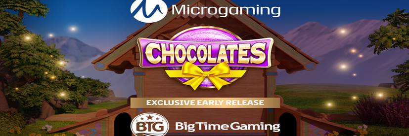 Big Time Gaming's New Chocolates Slot Offers Golden Ticket Hunt Exclusive to Microgaming