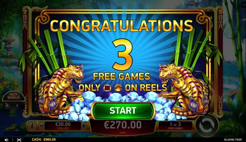 Blazing tiger slot free games