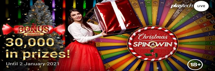 Grab a Share of a share of a $30,000 with Christmas Spin A Win!