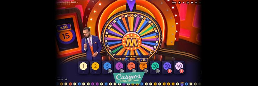 Mega Wheel live casino game show