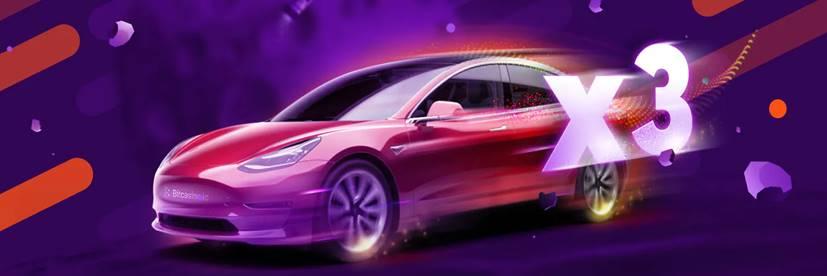 Win BitCasino Tourney and Drive a Tesla 3 Home