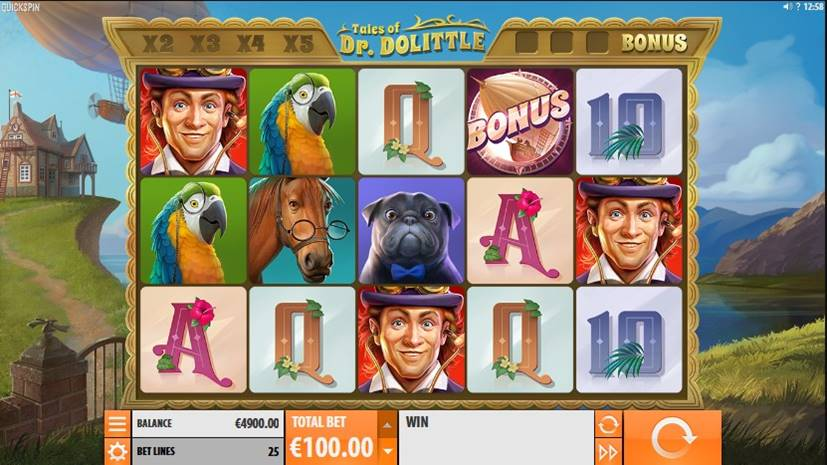 Tales of Dr. Dolittle Slot Screenshot