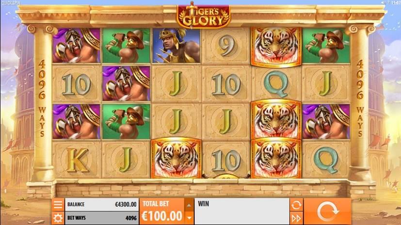 Tiger's Glory Slot Screenshot