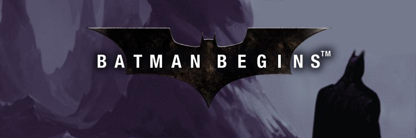 Batman Begins movie-themed slots